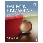 Evaluation Fundamentals,9781452282008