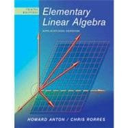 Elementary Linear Algebra: Applications Version, 10th Edition,9780470432051