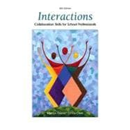 Interactions : Collaboration Skills for School Professionals,9780137152056