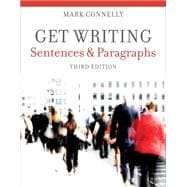 Get Writing : Sentences and Paragraphs,9781111772161