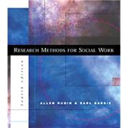 Research Methods for Social Work With Infotrac