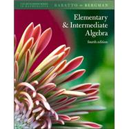 Student Solutions Manual Elementary &amp; Intermediate Algebra,9780077292188