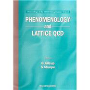 Phenomenology and Lattice Qcd: Proceedings of the 1993 Vehling Summer School : University of Washington 21 June-21 July 1993