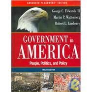 Government in America: People, Politics, and Policy,9780321292360