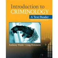 Introduction to Criminology : A Text/Reader, 9781412992367  