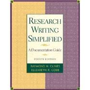 Research Writing Simplified with MLA Guide