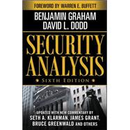 Security Analysis: Sixth Edition, Foreword by Warren Buffett, 9780071592536  