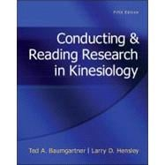 Conducting &amp; Reading Research In Kinesiology,9780078022555