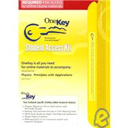 OneKey CourseCompass, Student Access Kit, Physics : Principles with Applications