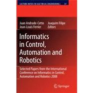 Informatics in Control, Automation and Robotics : Selcted Pa..., 9783642002700  