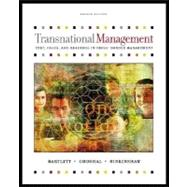 Transnational Management : Text and Cases,9780072482768