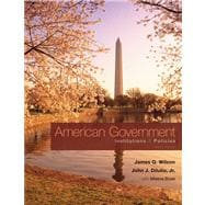 American Government : Institutions and Policies,9780495802815