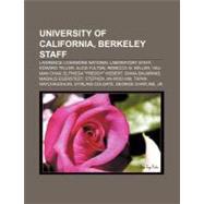 University of California, Berkeley Staff : Yau-Man Chan, Magnus B. Egerstedt, Tapan Raychaudhuri, Pierre-Gilles de Gennes, Cecilia R. Aragon