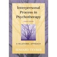 Interpersonal Process in Psychotherapy : A Relational Approach,9780534362959