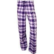 TCU Horned Frogs Women's Purple Crossroad Flannel Pants