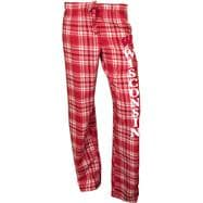 Wisconsin Badgers Women's Red Crossroad Flannel Pants