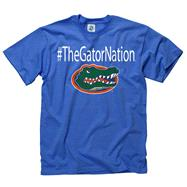 Florida Gators Royal Gator Nation Hashtag T-Shirt