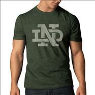 Notre Dame Fighting Irish '47 Brand Bottle Green Interlock ND Vintage Scrum T-Shirt