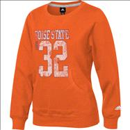 Boise State Broncos adidas Youth Girls Orange Scoop Neck Crewneck Sweatshirt