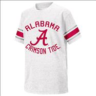 Alabama Crimson Tide White Youth Football T-Shirt