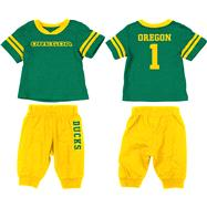 Oregon Ducks Dark Green Infant Quarterback T-Shirt and Pant Combo Set