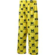 Michigan Wolverines Youth Gold Team Logo Printed Pants