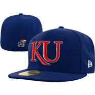 Kansas Jayhawks New Era 59FIFTY Basic Fitted Hat