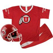 Utah Utes Kids/Youth Football Helmet and Uniform Set
