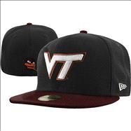 Virginia Tech Hokies New Era 59FIFTY 2 Tone Graphite Fitted Hat