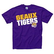 LSU Tigers Purple Youth Slogan T-Shirt