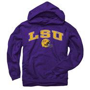 LSU Tigers Purple Football Helmet Hooded Sweatshirt