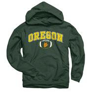 Oregon Ducks Dark Green Football Helmet Hooded Sweatshirt