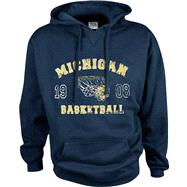Michigan Wolverines Legacy Basketball Hooded Sweatshirt