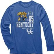 Kentucky Wildcats Royal Double Reverse Long Sleeve Slub Knit T-Shirt