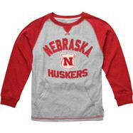 Nebraska Cornhuskers Youth adidas Red Pouch Pocket Vintage Crewneck T-Shirt