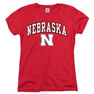 Nebraska Cornhuskers Women's Arch N Mascot T-Shirt