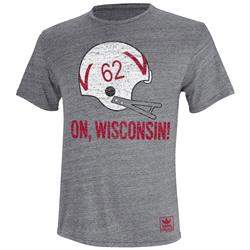 Wisconsin Badgers adidas Originals Helmet Rush Tri-Blend T-Shirt