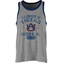 Auburn Tigers Tri-Blend Mank Ringer Men's Tank Top