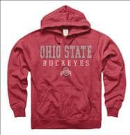 Ohio State Buckeyes Worn Out Ring Spun Hooded Sweatshirt