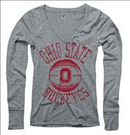Ohio State Buckeyes Women's Stippler Ring Spun Long Sleeve T-Shirt
