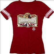 Florida State Seminoles Women's 2012 ACC Football Champions Lobbed Jersey T-Shirt