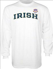 Notre Dame Fighting Irish 2013 BCS National Championship Game Irish Arch Long Sleeve T-Shirt - White
