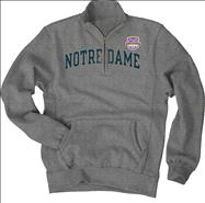 Notre Dame Fighting Irish 2013 BCS National Championship Game Irish 1/4 Zip Sweatshirt - Grey