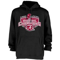 Alabama Crimson Tide 2012 BCS National Champions Back-to-Back Hooded Sweatshirt - Black
