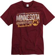 Minnesota Golden Gophers Maroon Escalate Basketball Ring Spun T-Shirt