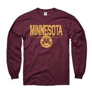 Minnesota Golden Gophers Maroon Dimension Basketball Long Sleeve T-Shirt