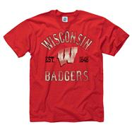 Wisconsin Badgers Red Trademark T-Shirt