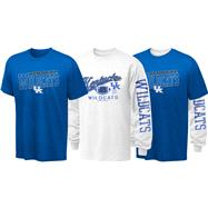 Kentucky Wildcats Youth Long Sleeve/Short Sleeve 3-in-1 T-Shirt Combo Pack