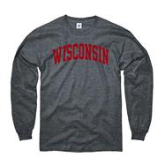 Wisconsin Badgers Dark Heather Arch Long Sleeve T-Shirt