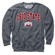 Ohio State Buckeyes Dark Heather Perennial II Crewneck Sweatshirt